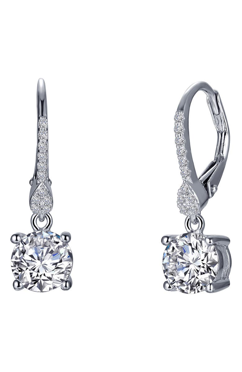 Lafonn Solitaire Simulated Diamond Drop Earrings