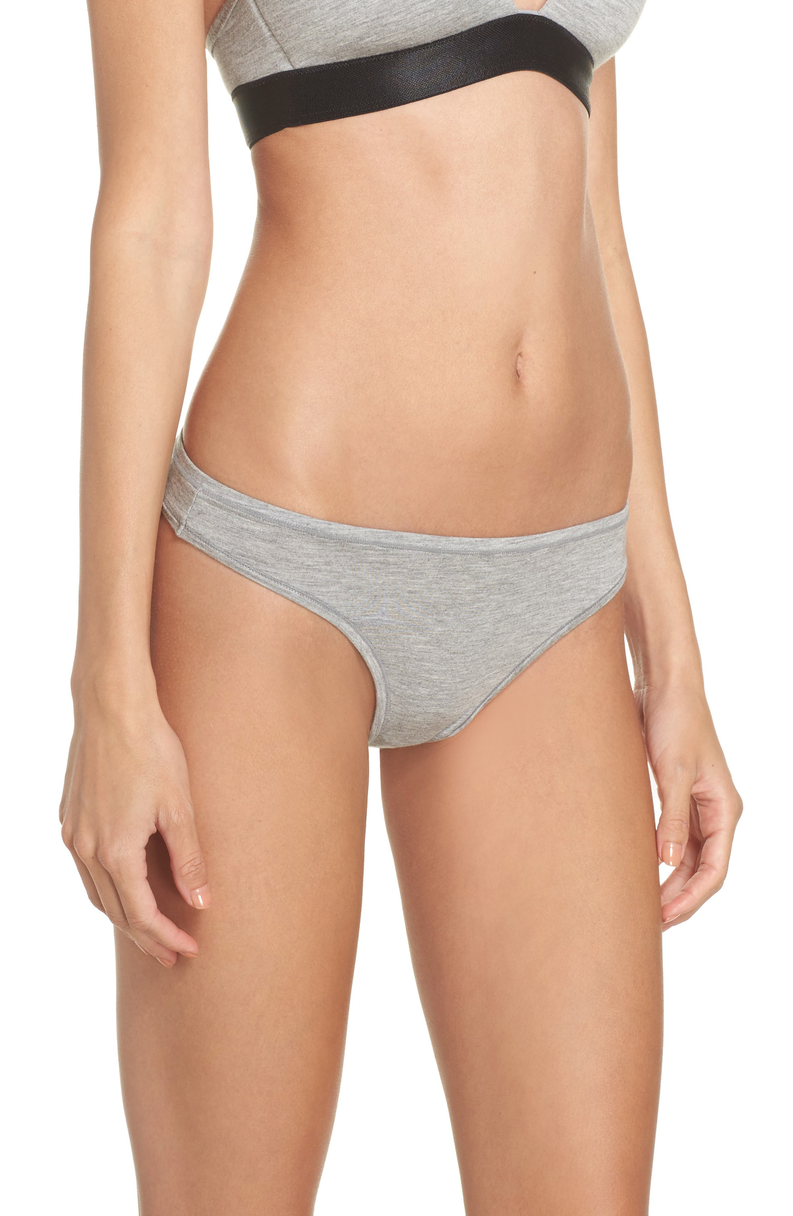 ,                             Micromodal Thong,                             Alternate thumbnail 3, color,                             GREY FROST HEATHER