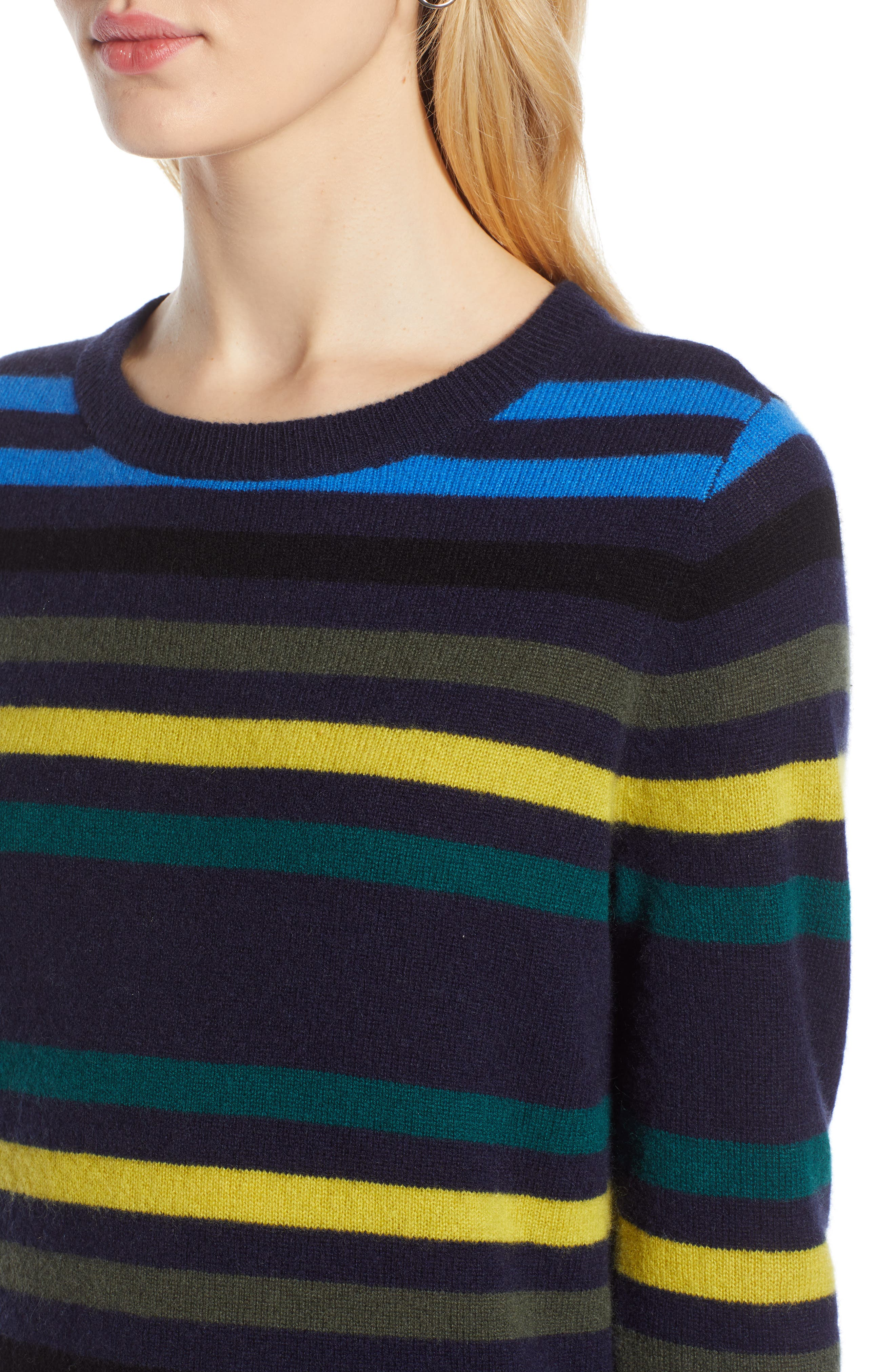 ,                             Crewneck Cashmere Sweater,                             Alternate thumbnail 105, color,                             412