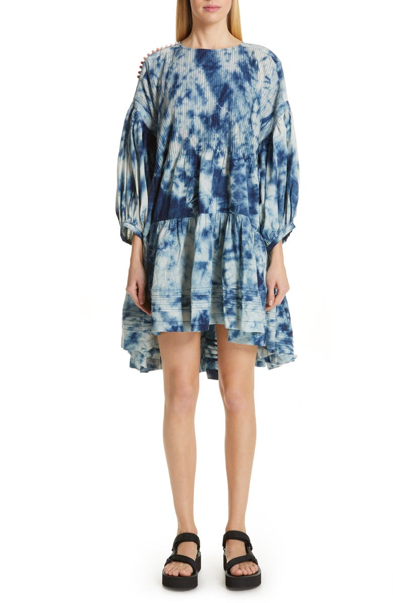 STORY MFG. Verity Tie Dye Drop Waist Dress, Main, color, 400