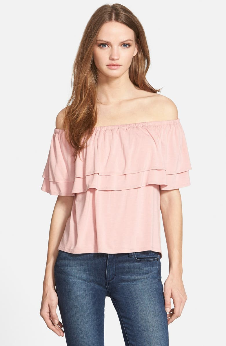 REBECCA MINKOFF 'Dev' Off the Shoulder Top, Main, color, 601