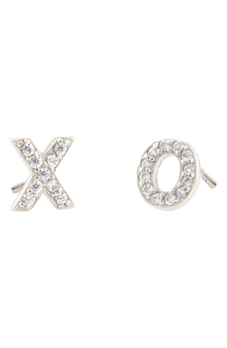 KRIS NATIONS Pavé XO Stud Earrings, Main, color, 040