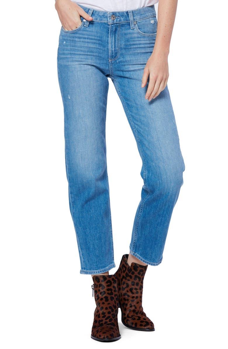 PAIGE Vintage - Noella Ankle Straight Leg Jeans, Main, color, CASANOVA DISTRESSED