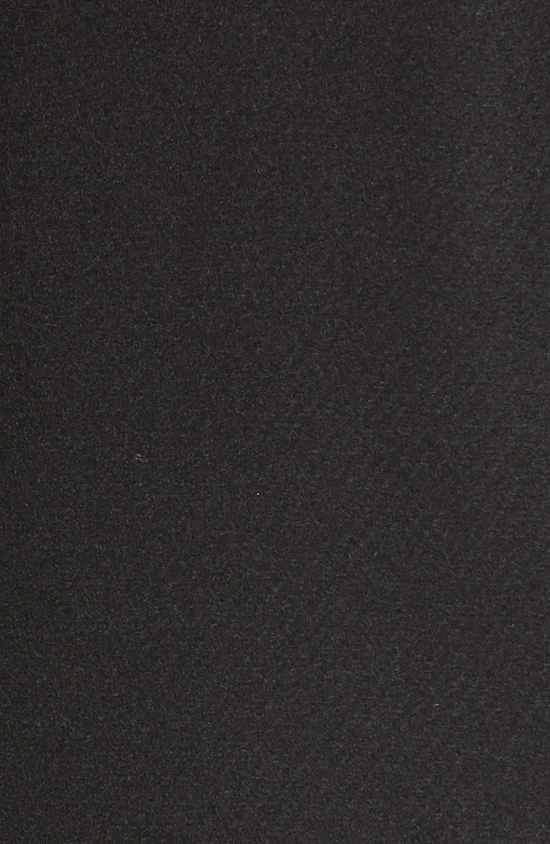 ,                             Genuine Coyote Fur Trim Wool Blend Duffle Coat,                             Alternate thumbnail 5, color,                             002