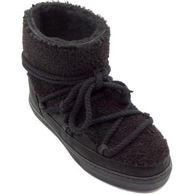Inuikii Genuine Curly Shearling Sneaker Bootie, Black