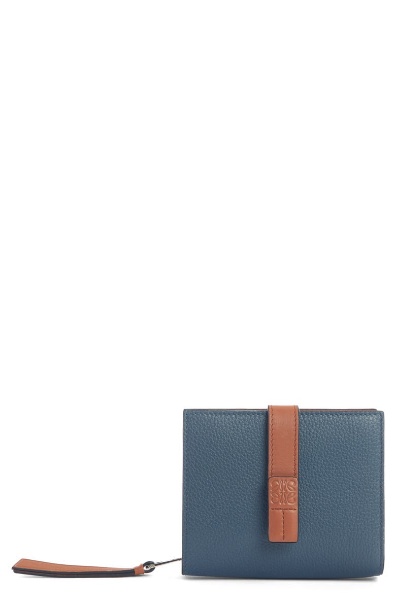 LOEWE Logo Tab Leather Wallet, Main, color, 455