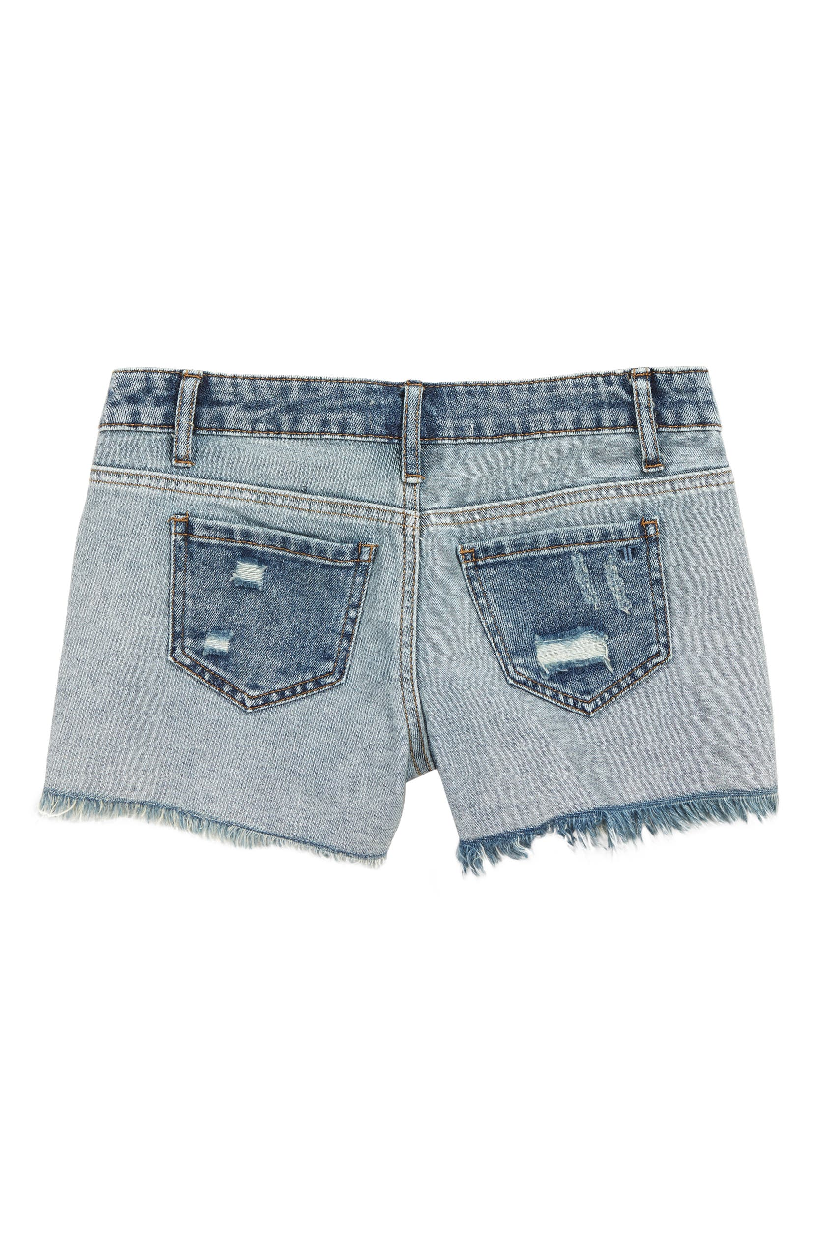 095081082d56c Tractr Frayed Denim Shorts (Big Girls) | Nordstrom
