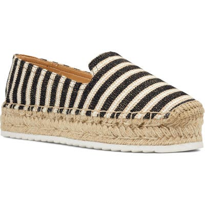 Nine West Lucy Platform Espadrille- Black