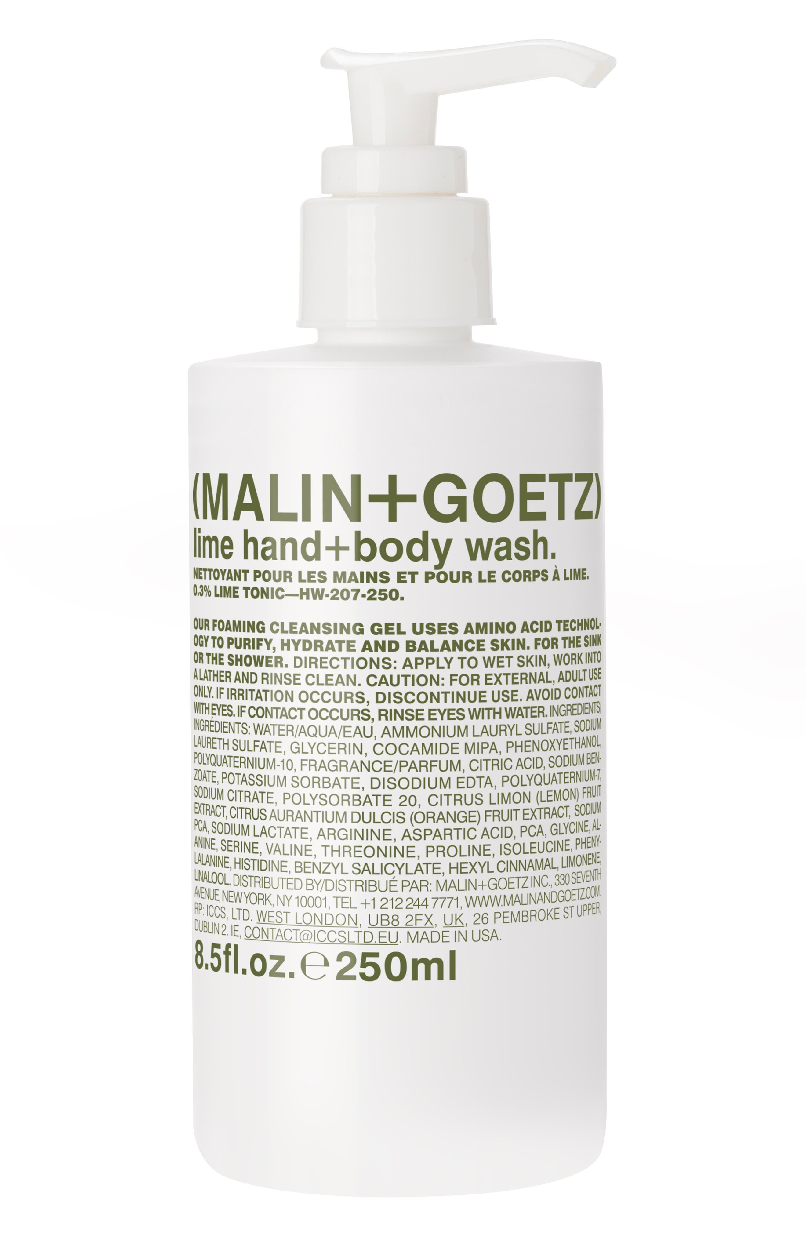 Malin+Goetz Lime Hand & Body Wash With Pump