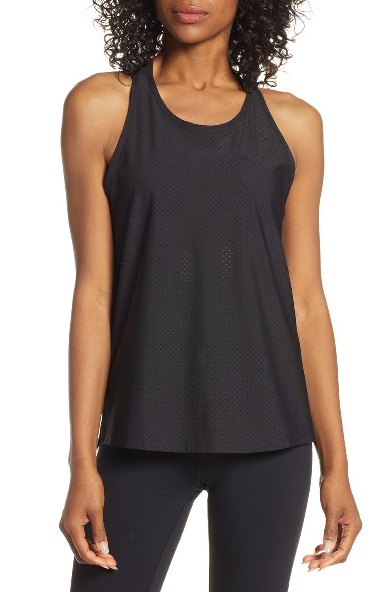 SPANX<SUP>®</SUP> Active Perforated Tank, Main, color, BLACK