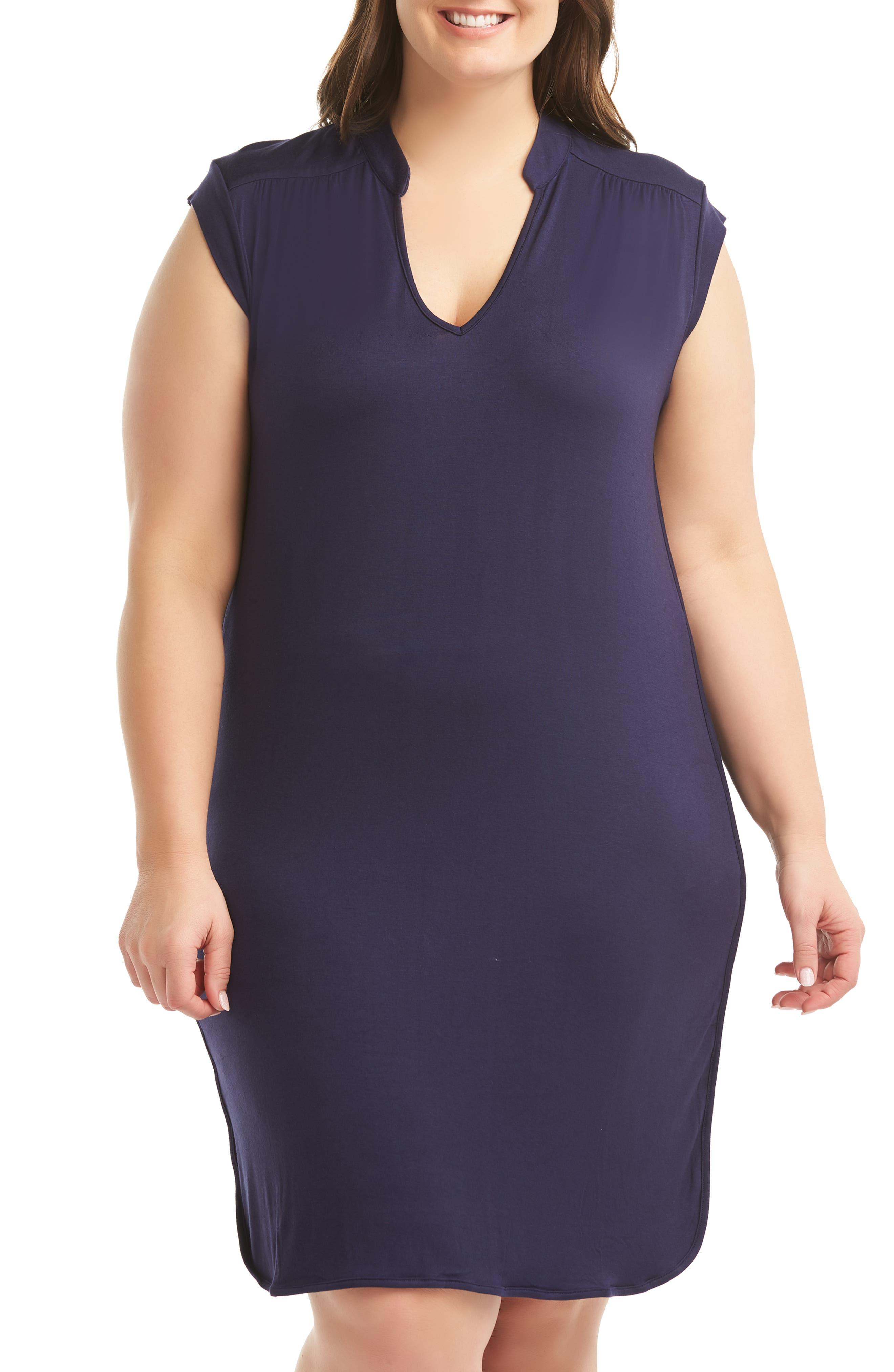 Plus Size Lemon Tart Mellie Sheath Dress, Blue