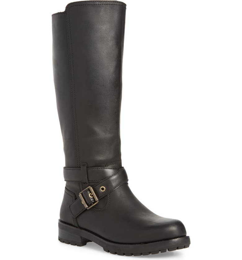 UGG<SUP>®</SUP> Harington Water Resistant Riding Boot, Main, color, 001