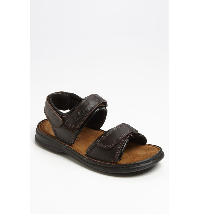 JOSEF SEIBEL 'Rafe' Sandal, Main, color, Dakota Moro/Black