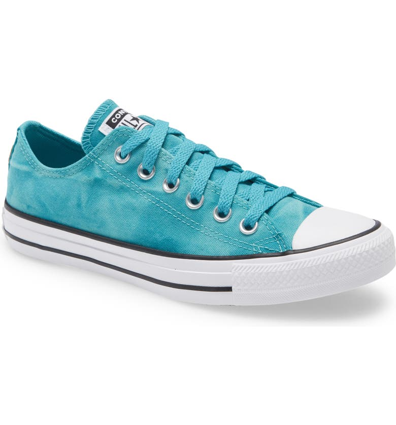 CONVERSE Chuck Taylor<sup>®</sup> All Star<sup>®</sup> Tie Dye Low Top Sneaker, Main, color, HARBOR TEAL/ WHITE