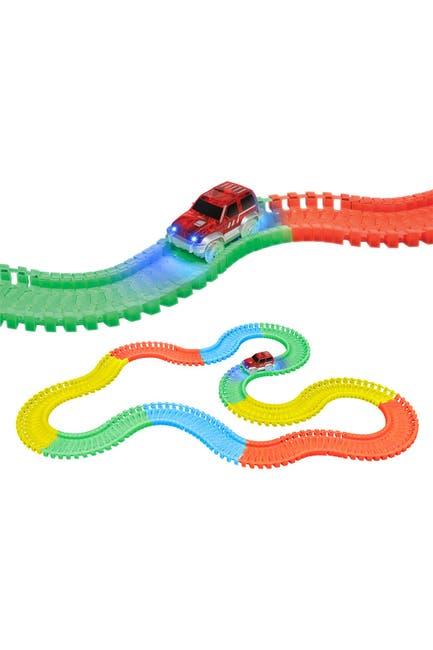 Image of World Tech Toys Galaxy Flex-Track 220 Piece Glow Track & Electric LED Light Car 220-Piece Set