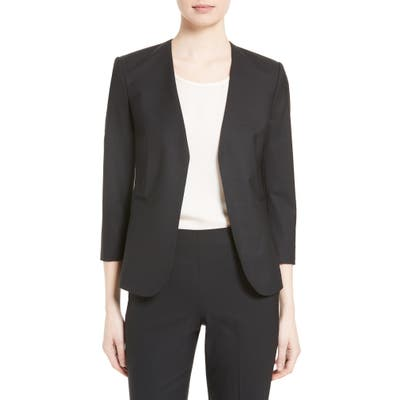 Theory Lindrayia B Good Wool Suit Jacket, Black (Nordstrom Exclusive)