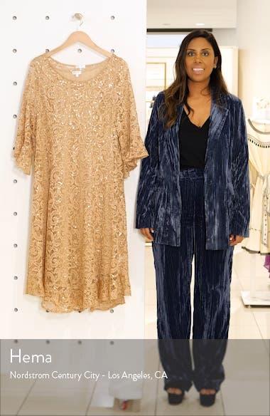 Sofia Sequin Lace Cocktail Dress, sales video thumbnail