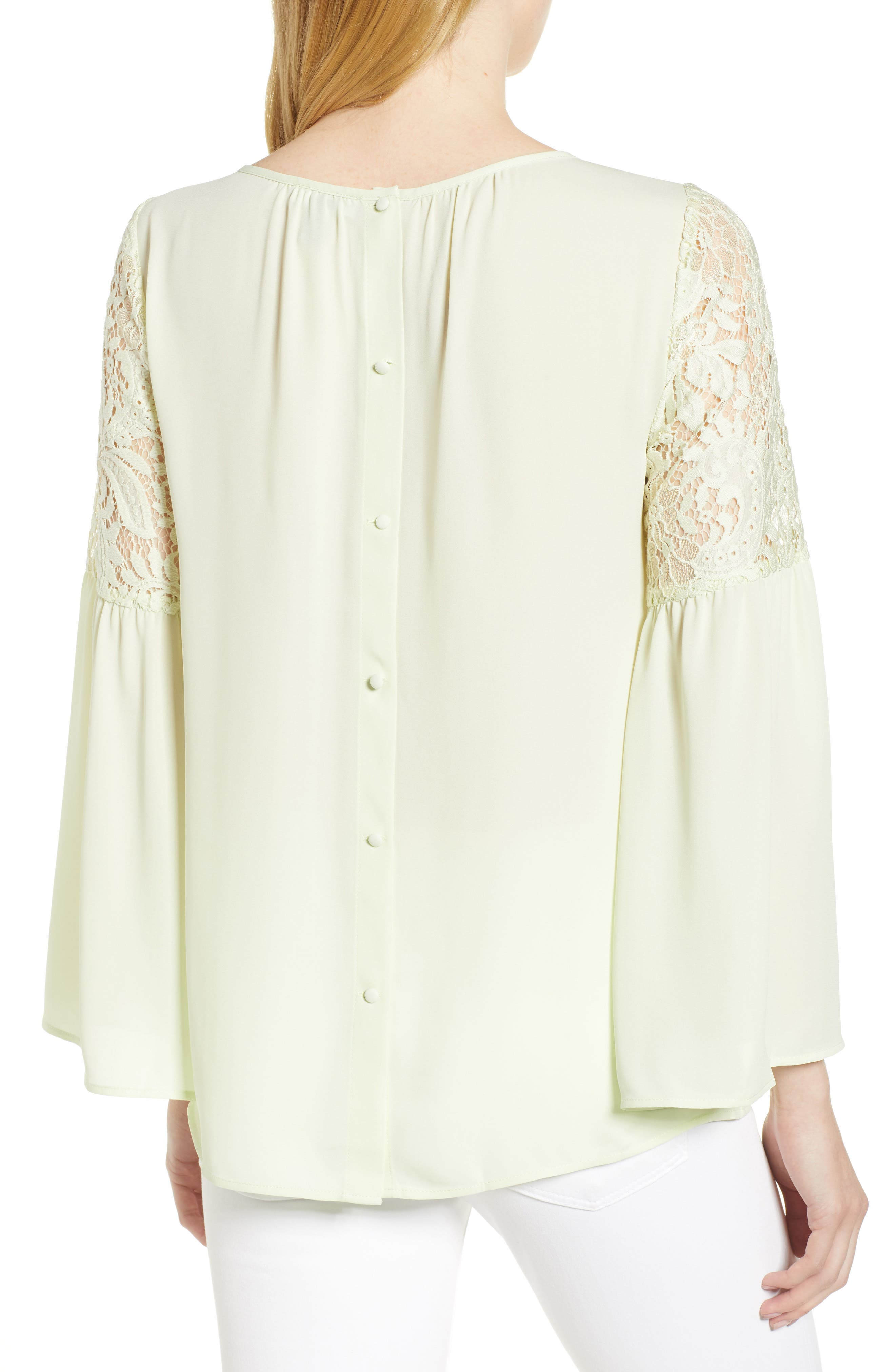 ,                             Lace Bell Sleeve Top,                             Alternate thumbnail 15, color,                             330