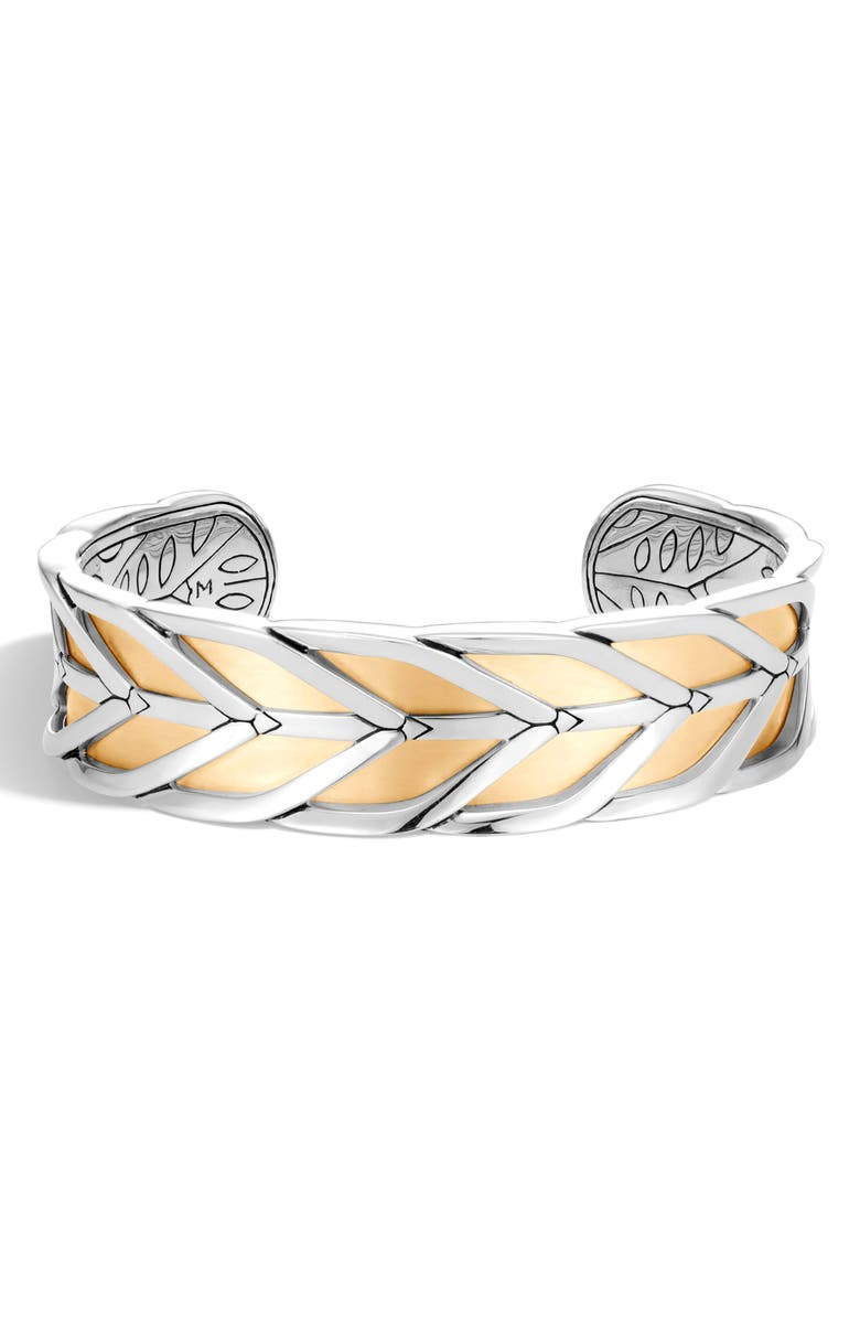 JOHN HARDY Modern Chain Cuff Bracelet, Main, color, SILVER/ GOLD