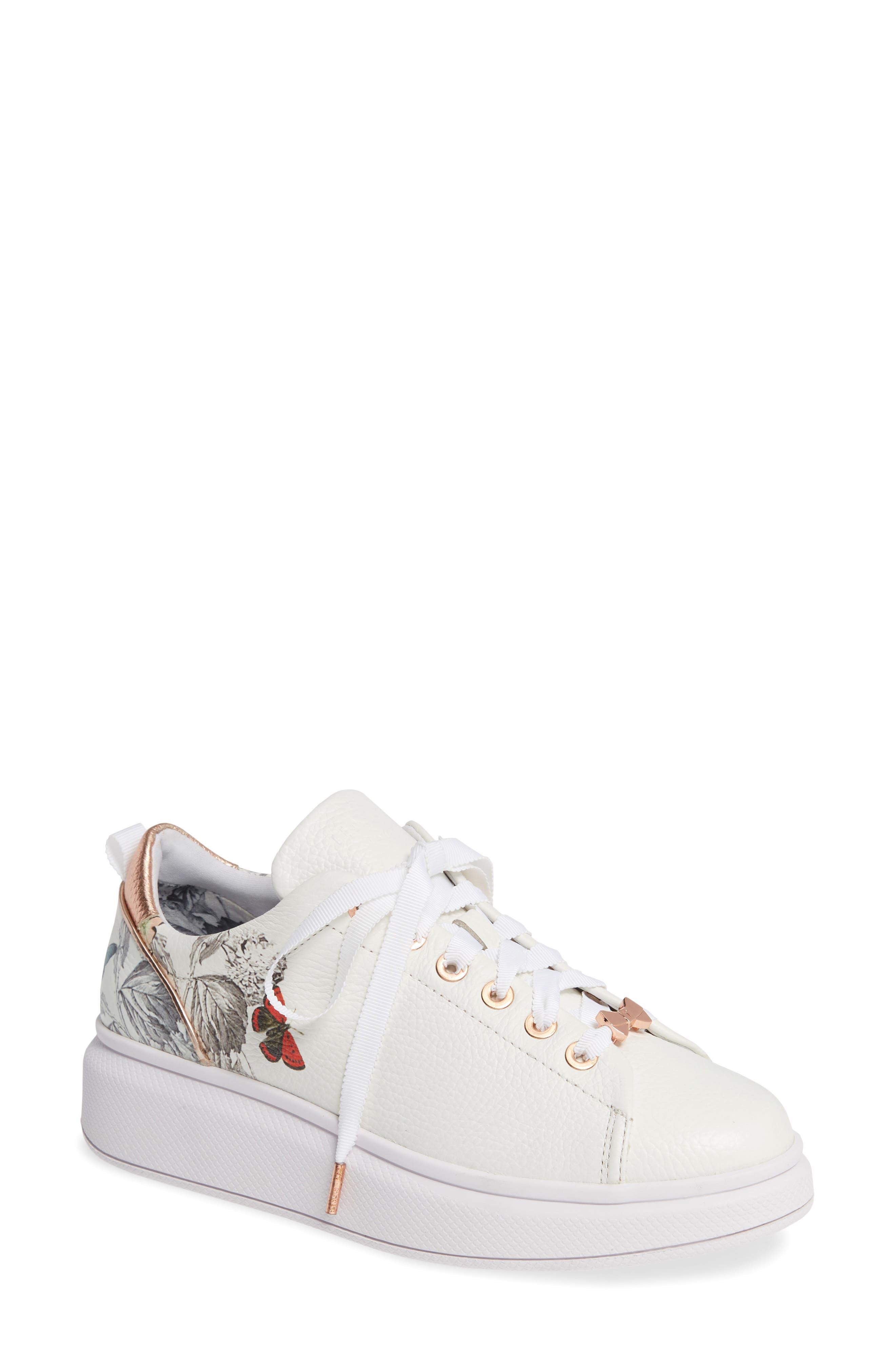 Ted Baker London Ailbe 3 Platform Sneaker, White
