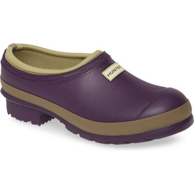 Hunter Garden Waterproof Clog, Purple