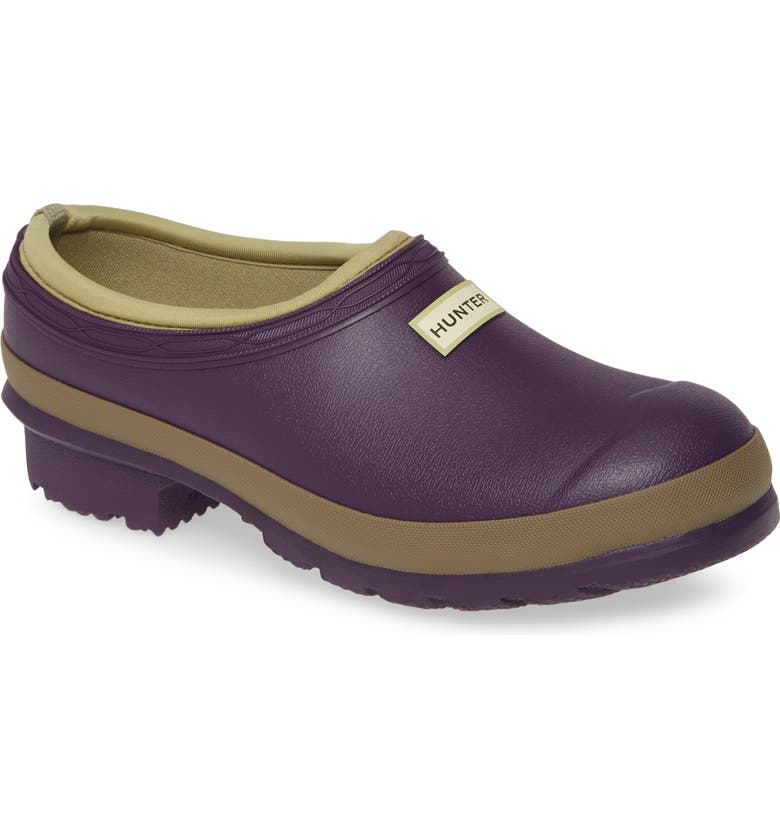 HUNTER Garden Waterproof Clog, Main, color, DARK IRIS