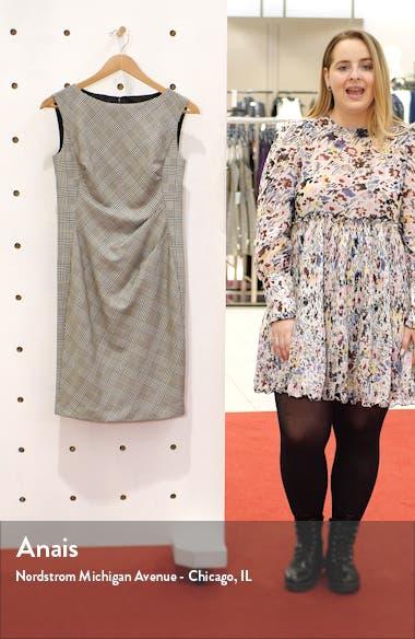 Della Houndstooth Sheath Dress, sales video thumbnail