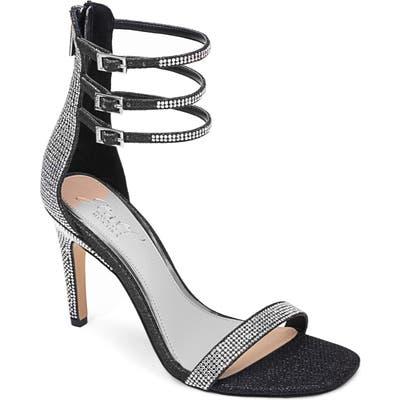 Jewel Badgley Mischka Regina Ankle Strap Sandal, Black