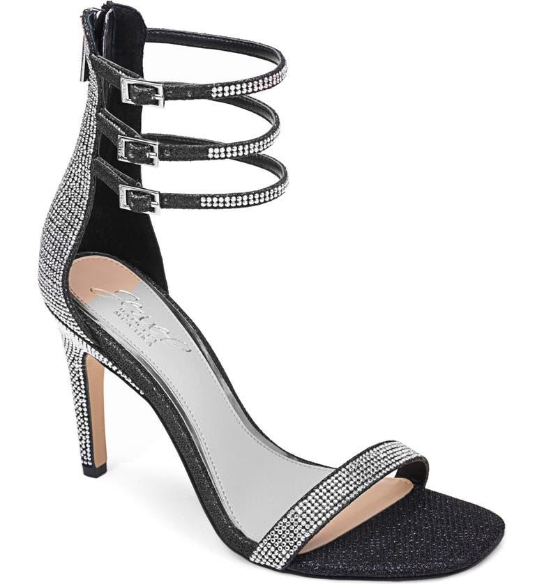 JEWEL BADGLEY MISCHKA Regina Ankle Strap Sandal, Main, color, 002