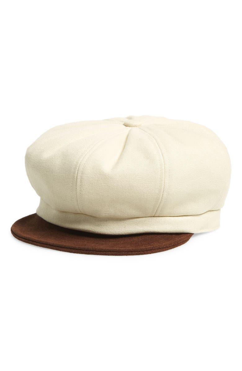 BRIXTON Montreal Contrast Brim Baker Boy Cap, Main, color, BROWN/NATURAL