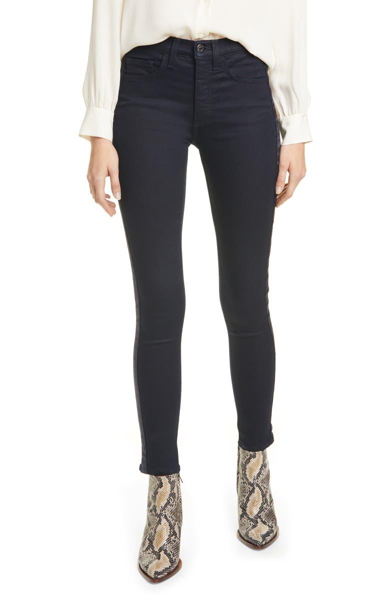 VERONICA BEARD Kate Tux Stripe High Waist Ankle Skinny Jeans, Main, color, 400
