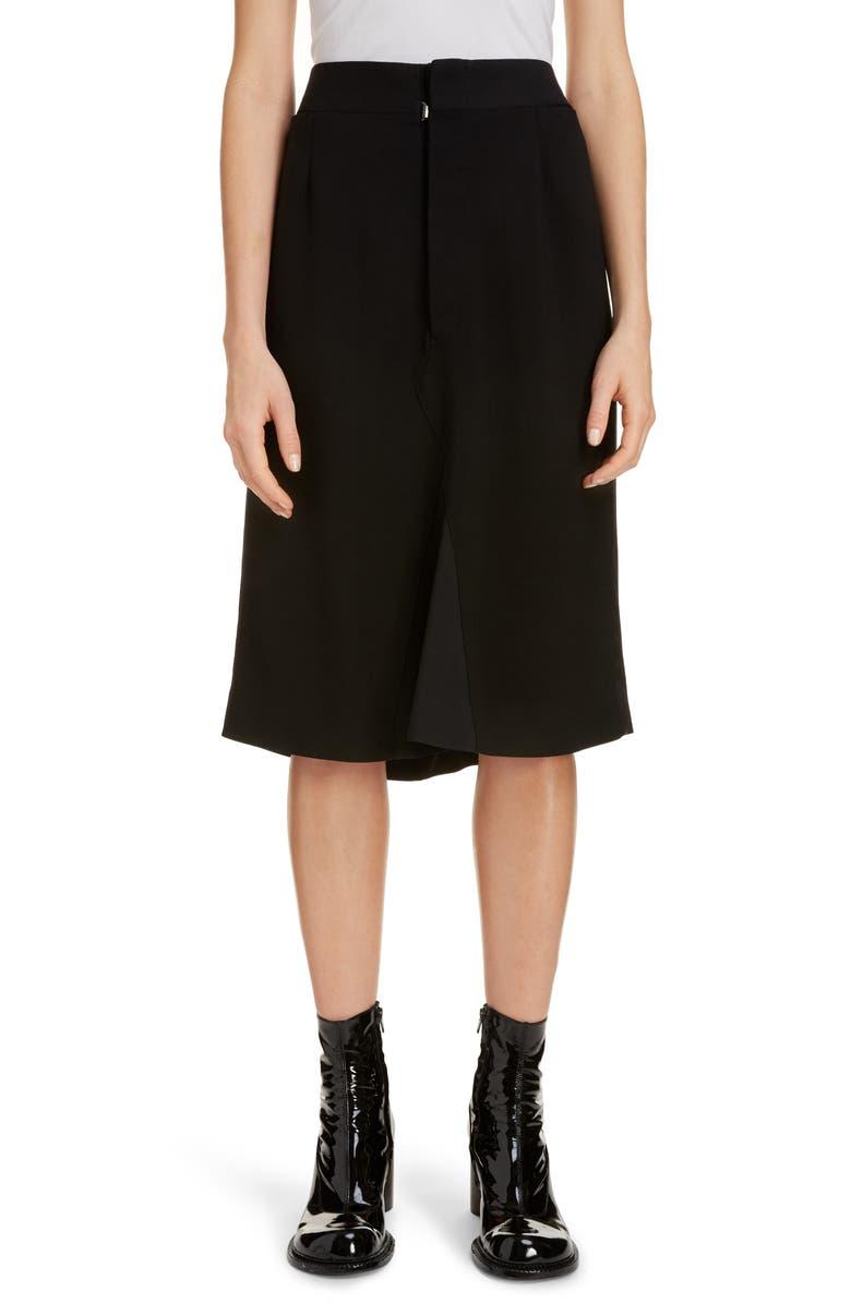 MAISON MARGIELA Crepe A-Line Skirt, Main, color, 001