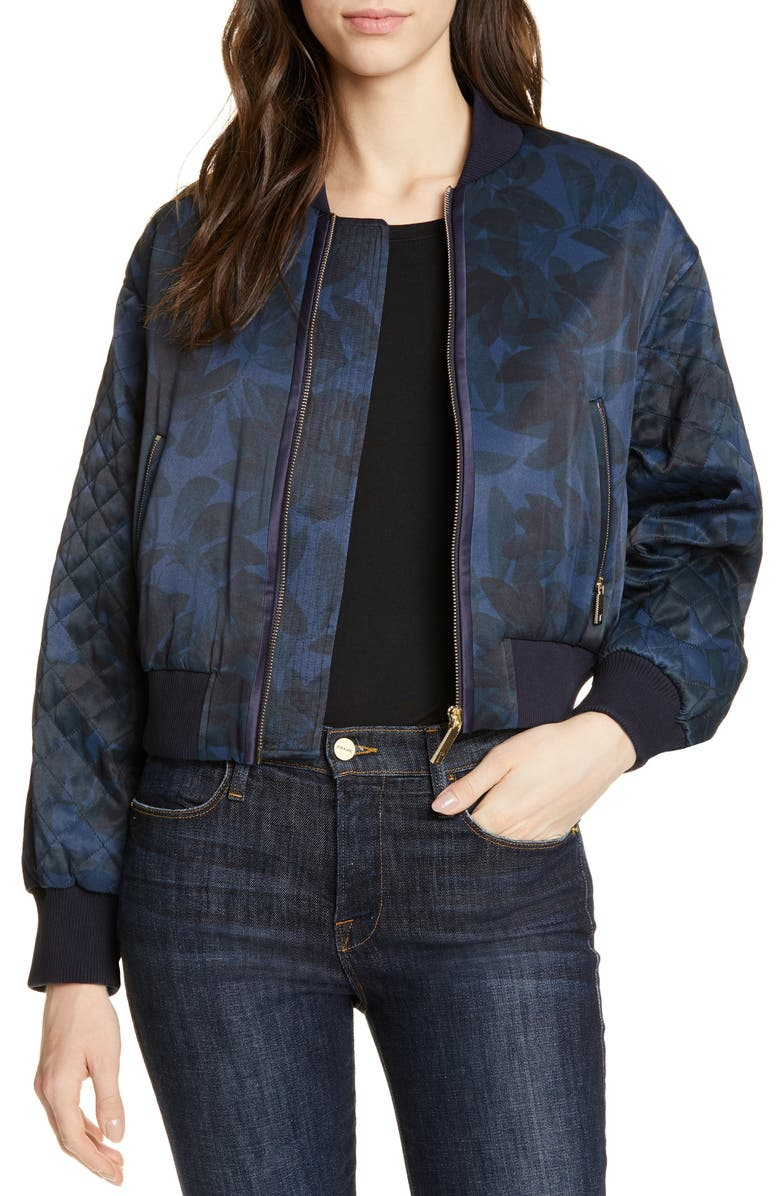 TED BAKER LONDON Sandey Houndini Quilted Bomber Jacket, Main, color, 410