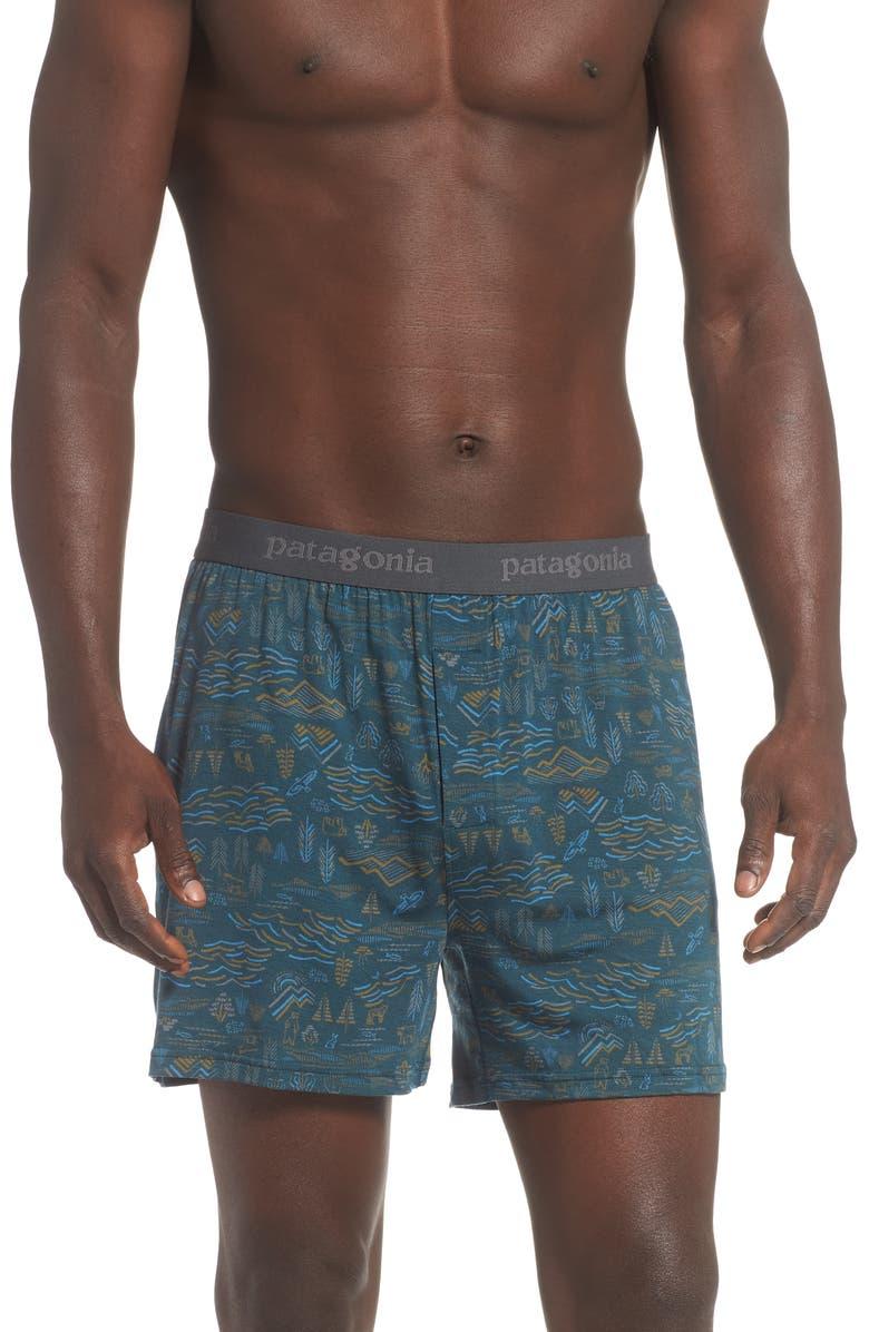PATAGONIA Essential Boxers, Main, color, PIKI GREEN