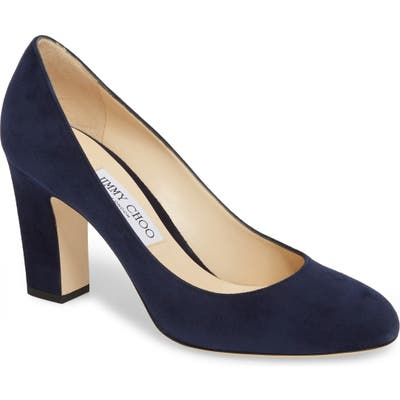 Jimmy Choo Billie Block Heel Pump - Blue