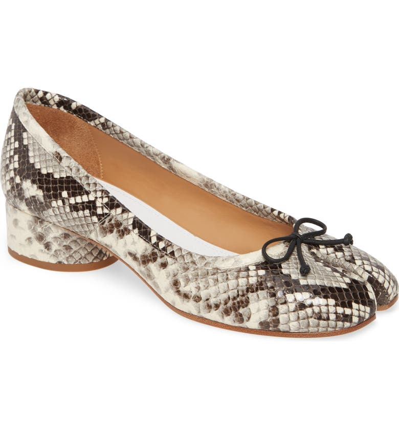 MAISON MARGIELA Tabi Pump, Main, color, SNAKEPRINT