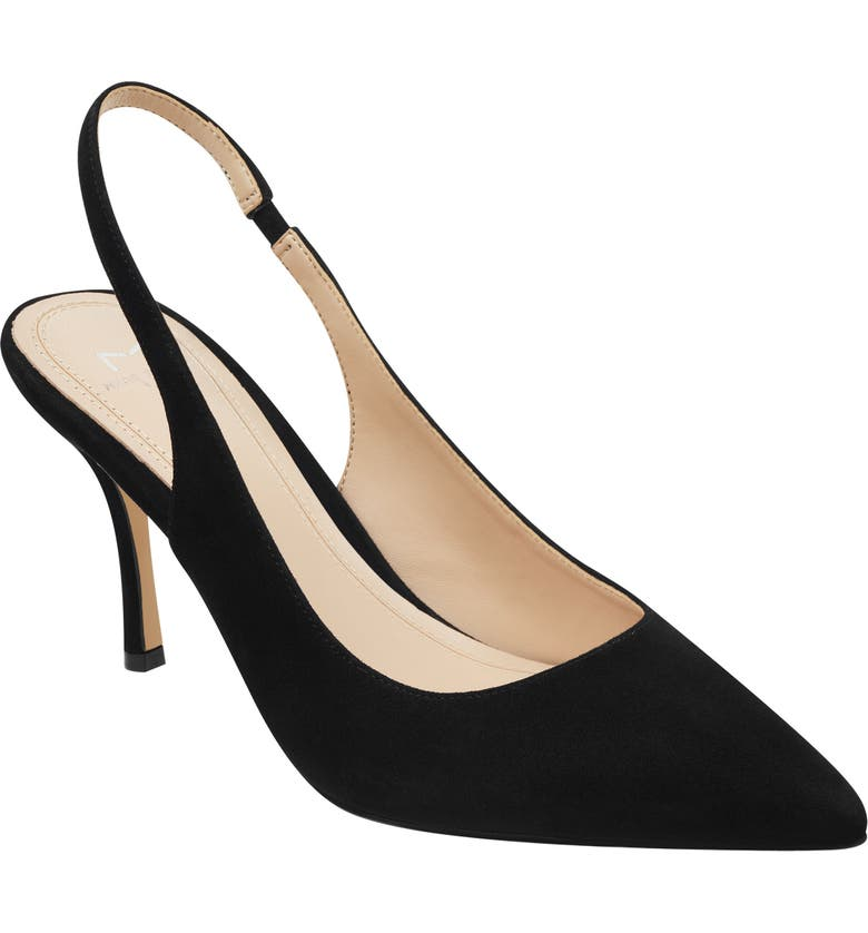 MARC FISHER LTD Camela Slingback Pump, Main, color, BLACK SUEDE