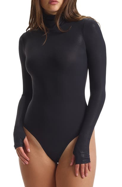 Commando CLASSIC TURTLENECK MICROFIBER THONG BODYSUIT