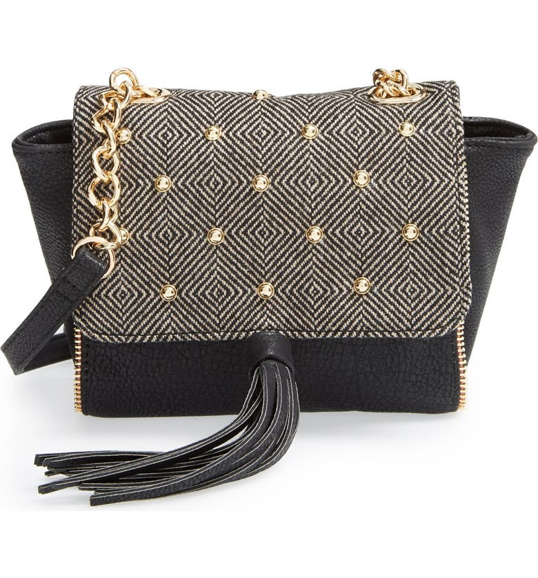 PRETTY SHIPS 'Aberdeen' Studded Crossbody Bag, Main, color, 001
