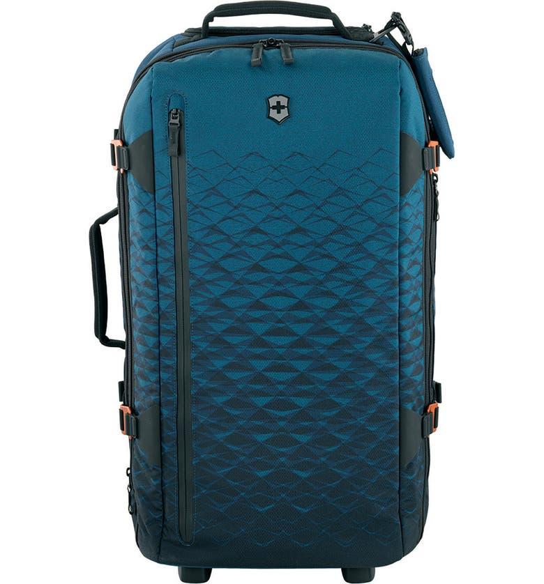 VICTORINOX SWISS ARMY<SUP>®</SUP> VX Touring Medium 26-Inch Wheeled Duffle Bag, Main, color, DARK TEAL