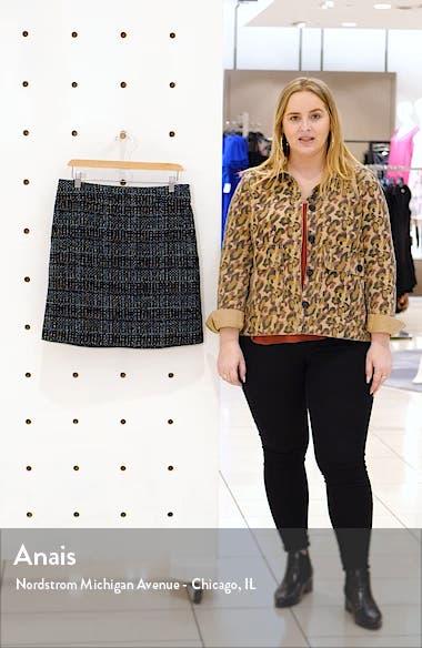 Metallic Tweed A-Line Miniskirt, sales video thumbnail