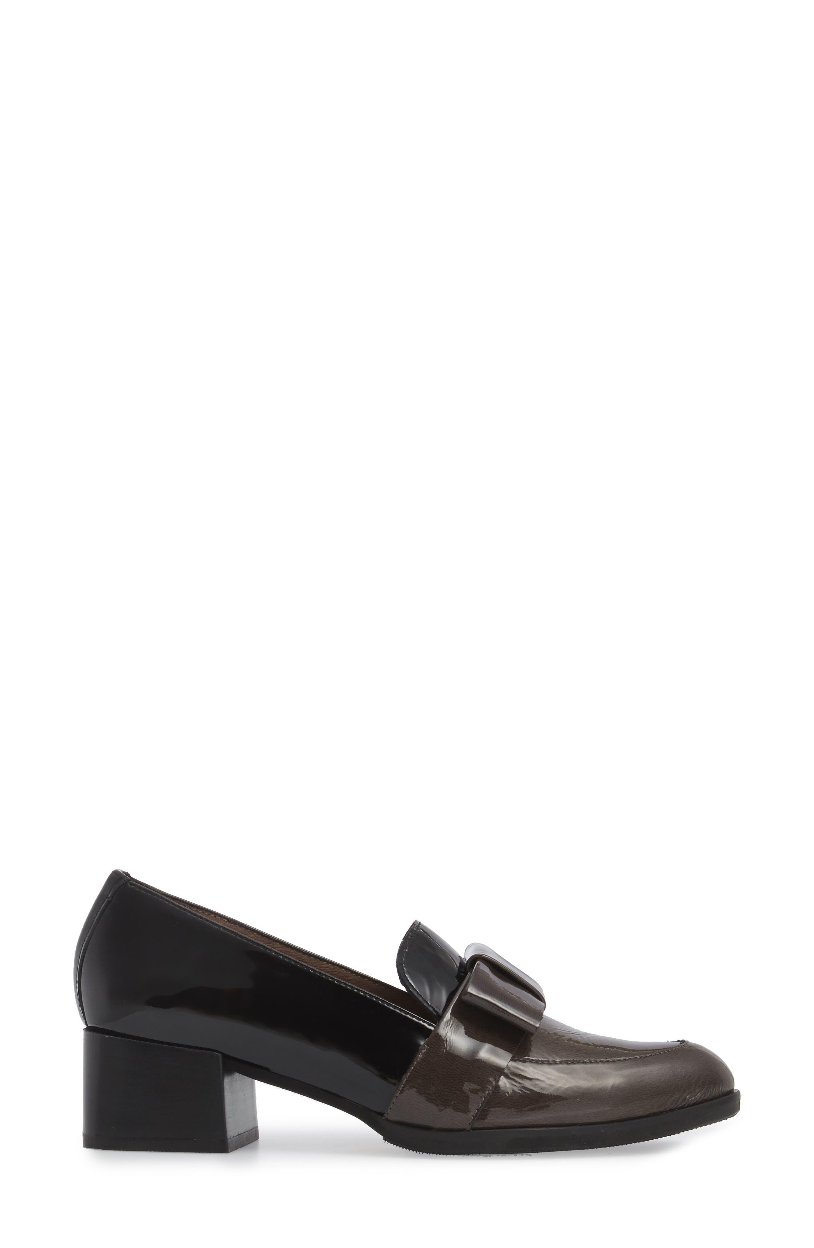 ,                             Block Heel Loafer Pump,                             Alternate thumbnail 3, color,                             025