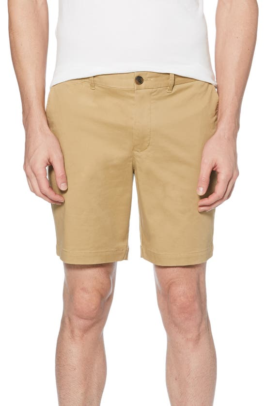Original Penguin Stretch Cotton Twill Shorts In Kelp