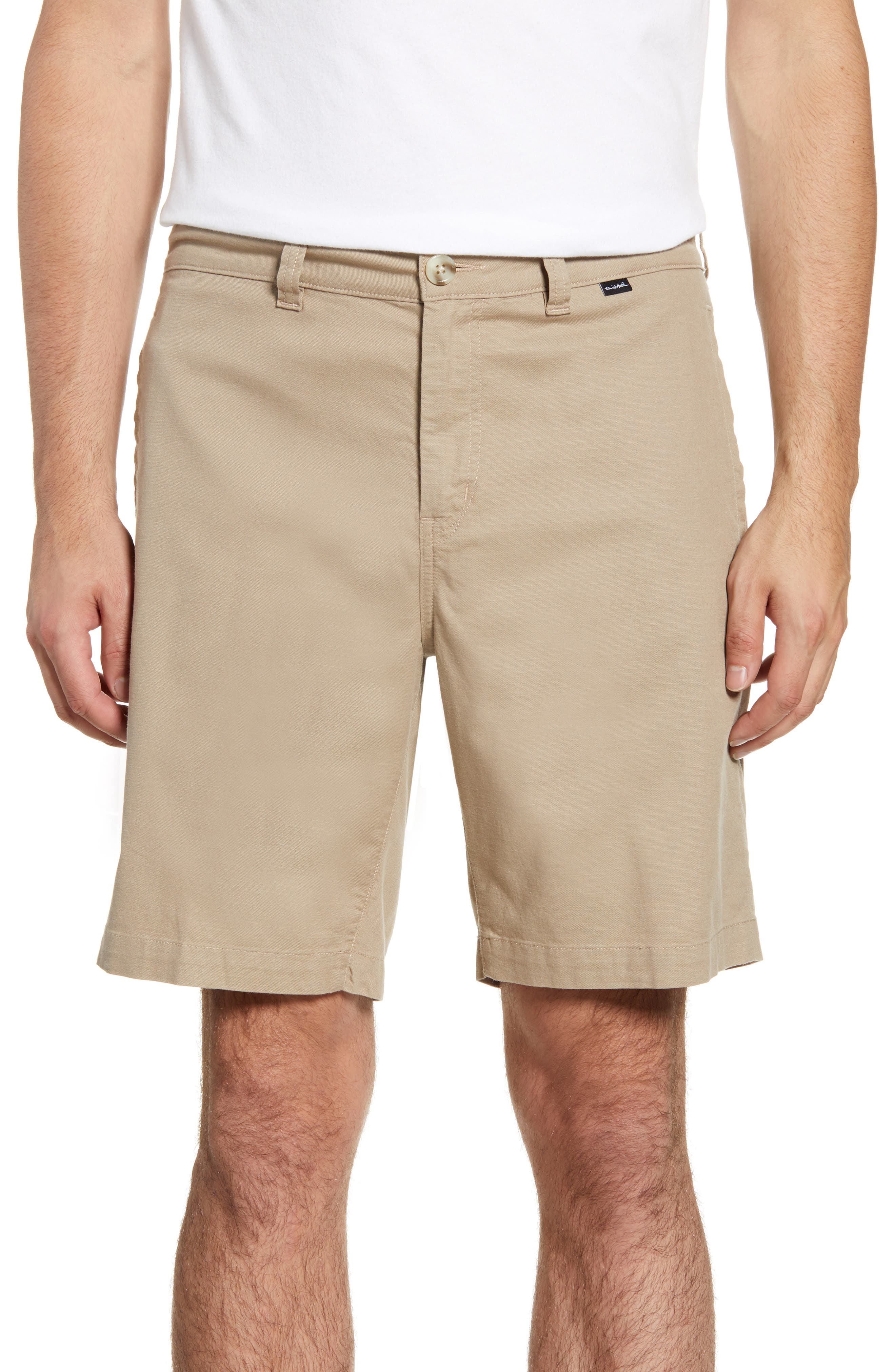 A soft and breezy stretch-cotton blend means flexible comfort in outdoorsy shorts shaped in a knee-length cut. Style Name: Travismathew Brewer Shorts. Style Number: 5881237. Available in stores.