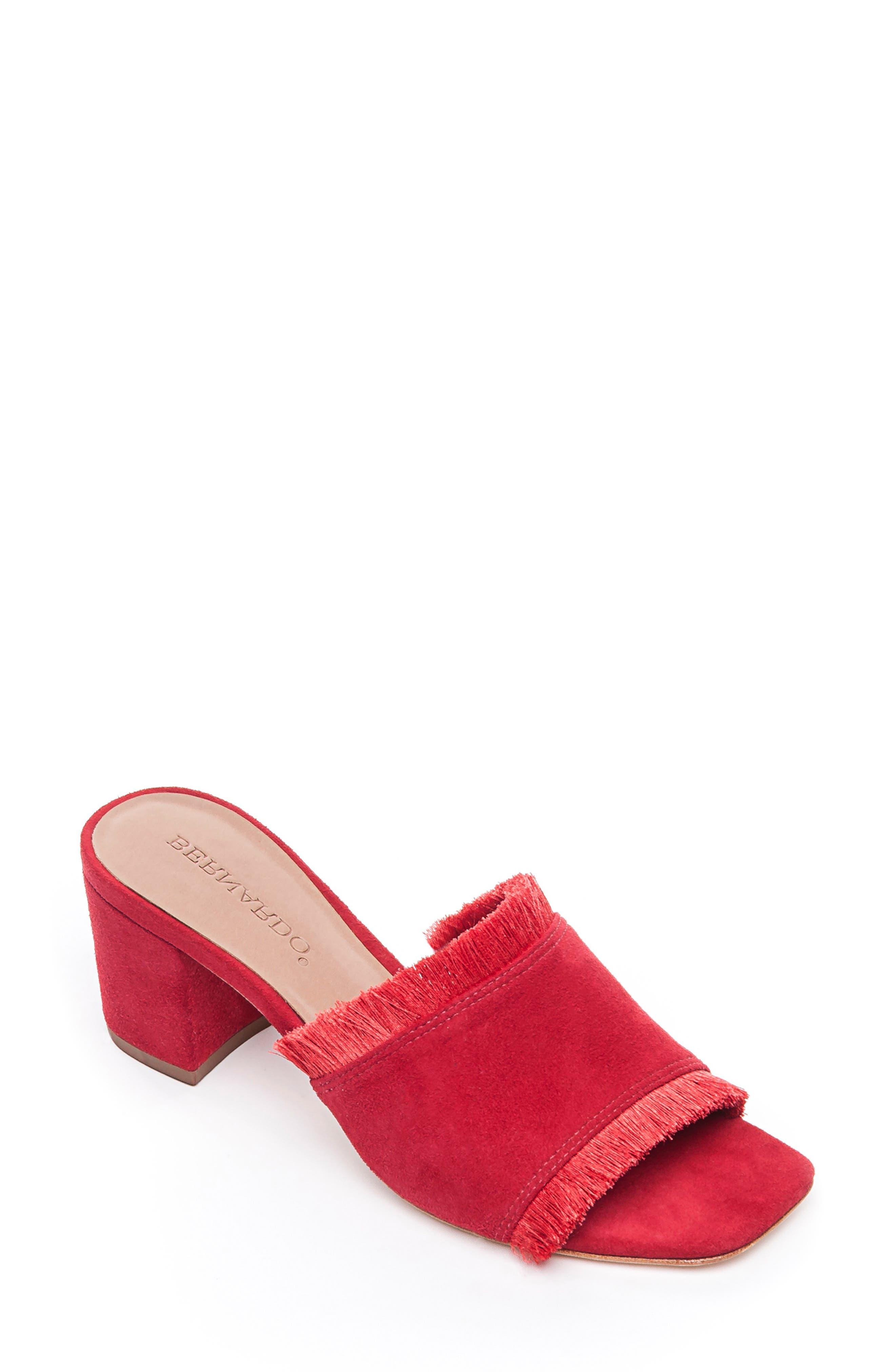 Bernardo Bryn Slide Sandal, Red