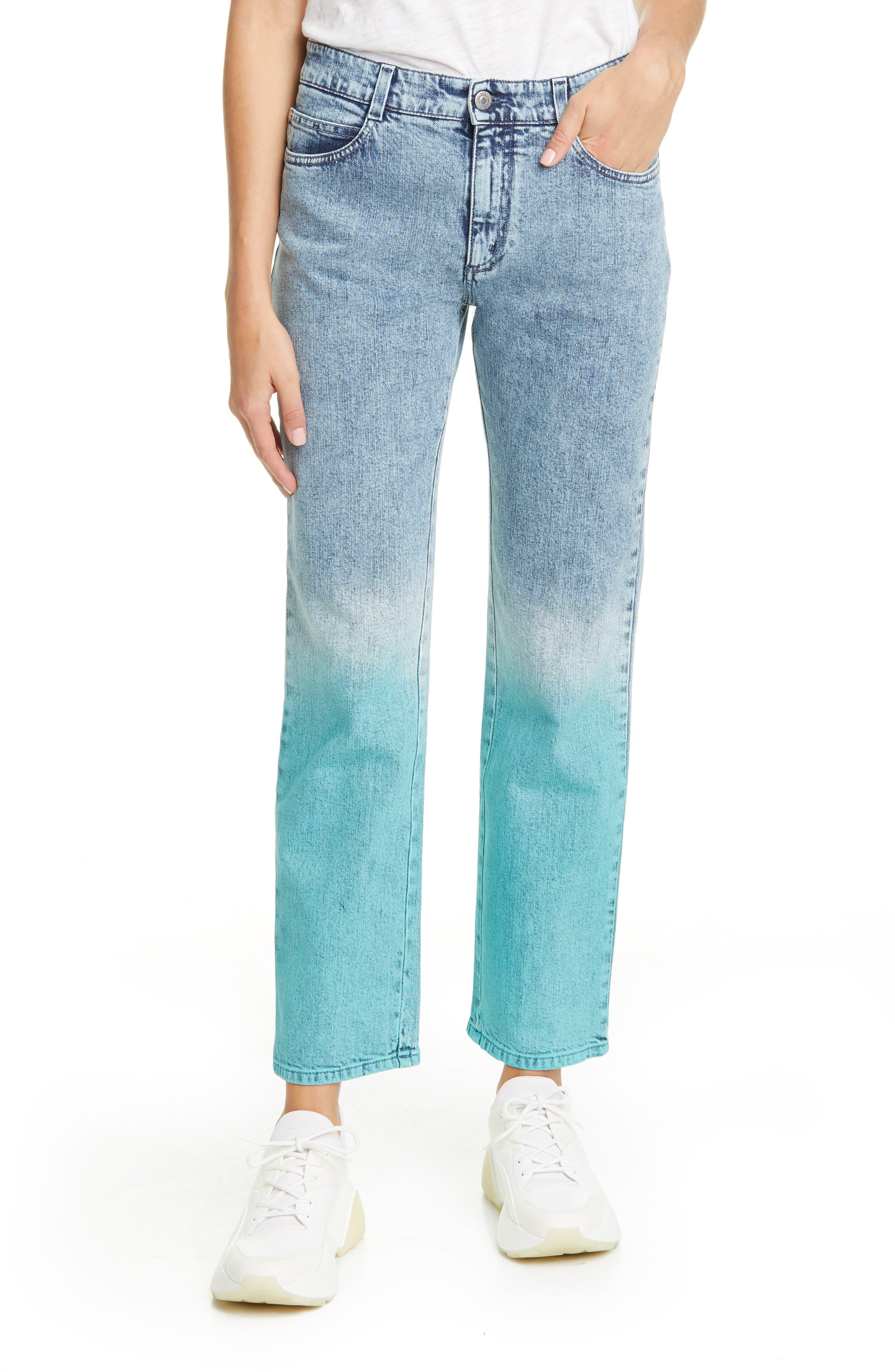 Stella McCartney The Straight Dip Dye Boyfriend Jeans