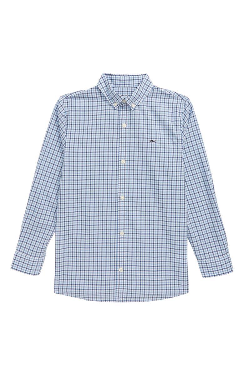 VINEYARD VINES Amelia Gingham Whale Shirt, Main, color, MOONSHINE