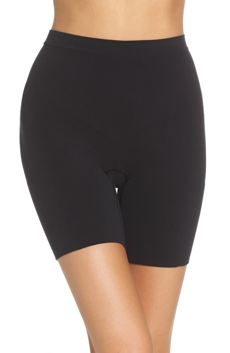SPANX<SUP>®</SUP> Power Short Mid Thigh Shaper, Main, color, VERY BLACK