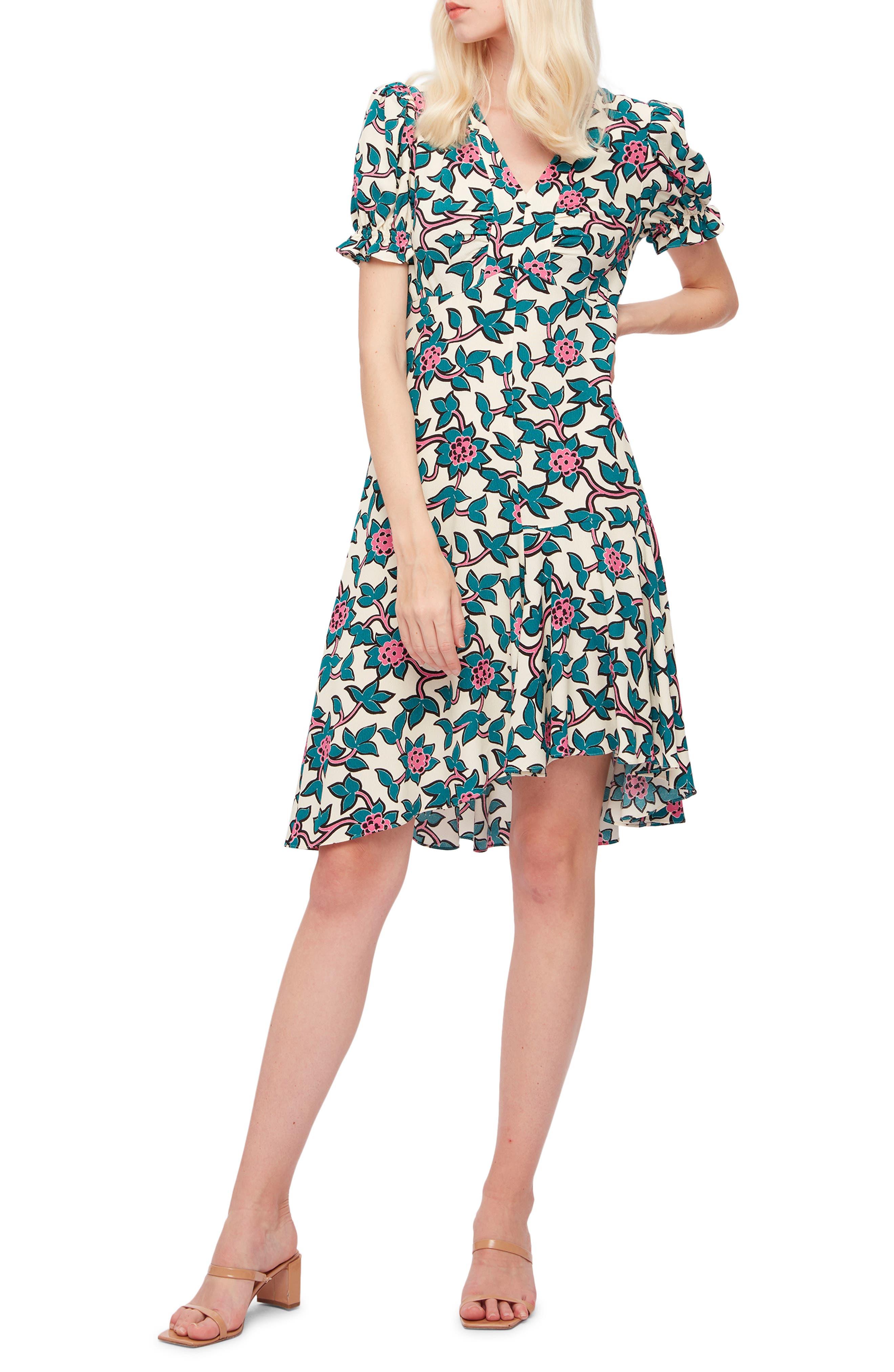 Alexis Print V-Neck Dress