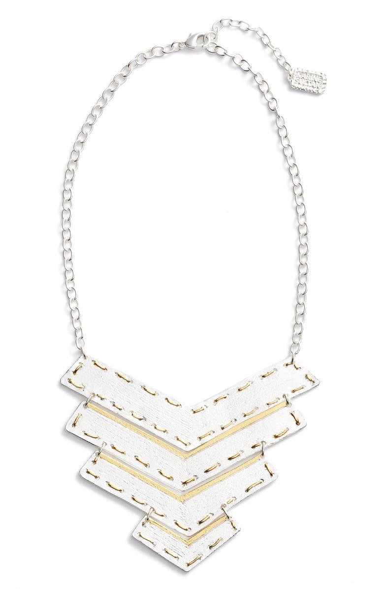 KARINE SULTAN Chevron Pendant Necklace, Main, color, 041